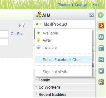 facebook chat settings mail