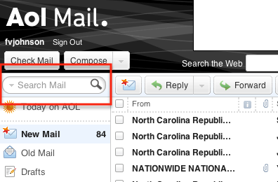 how to find aol email address