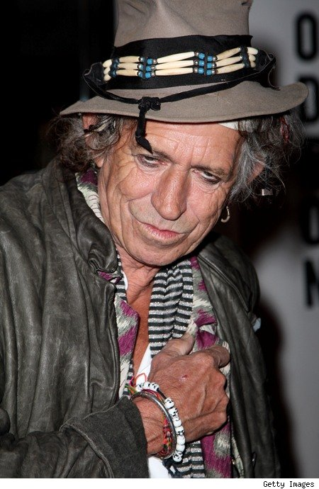Keith Richards is wrinkley.