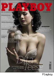 dita von teese on the cover of german playboy