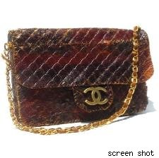 Nancy Wu's beef jerky chanel purse