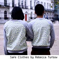 Jet Jacket designed by Rebecca Turbow of Safe Clothes and graphic designer Kate Moross