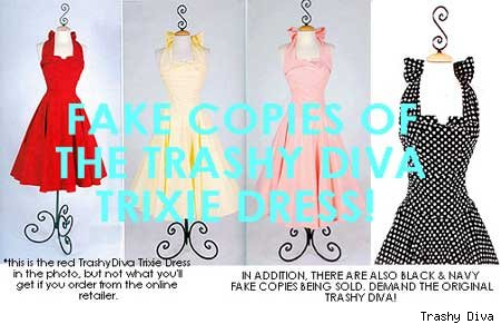 fake Trashy Diva dresses at Unique Vintage