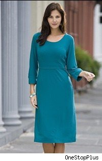 teal dress from one stop plus