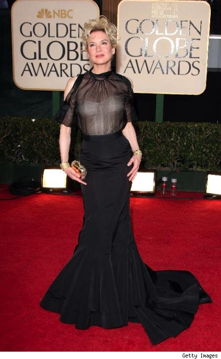 Renee Zellweger in a misguided Carolina Herrera