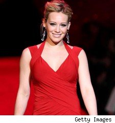 Hilary Duff on the runway for the Heart Truth