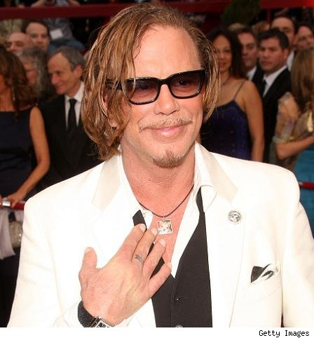 Mickey Rourke and Loki pendant