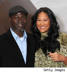 kimora lee simmons and djimon hounsou at fashion week 2009