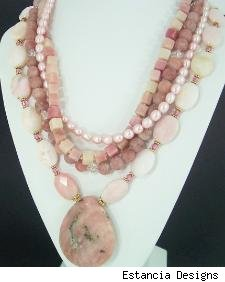 Estancia Designs - pink peruvian opal necklace