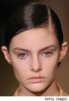 Model Crying at Jil Sander