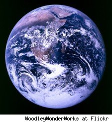 Earth from the apollo space craft