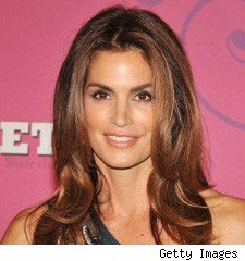 cindy crawford at Miley Cyrus sweet 16 at disney