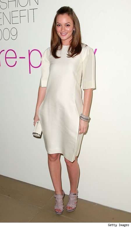 leighton meester in calvin klein at parsons fashion benefit party