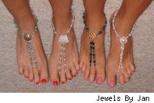 spring break footless sandals for the beach by Jewels By Jan
