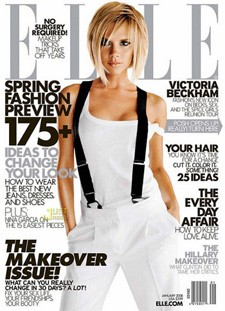 victoria beckham on the cover of elle magazine