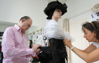christian lacroix working