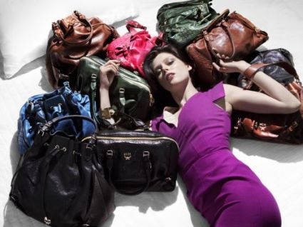Coco Rocha with MCM New York bags