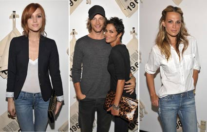 ashlee simpson, halle berry, molly sims at gap 1969 launch