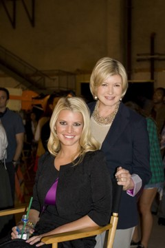 jessica simpson and martha stewart for the Feeding America and Macy's event