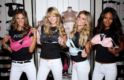 Victoria's Secret girls in Herald Square flagship.