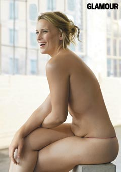 plus-size naked model in Glamour
