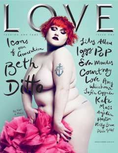 Beth Ditto naked on the cover of Love