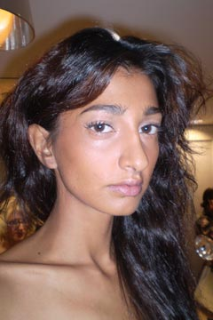 Model Backstage at Elie Tahari Spring 2010 Presentation