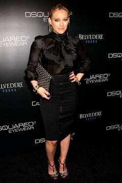 Hilary Duff at DSquared eyewear launch.