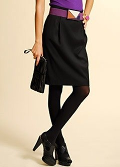 black skirt Mango