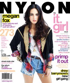 Megan Fox on the cover of Nylon