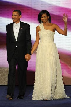 Michelle Obama in Jason Wu gown at the Inaugural Ball