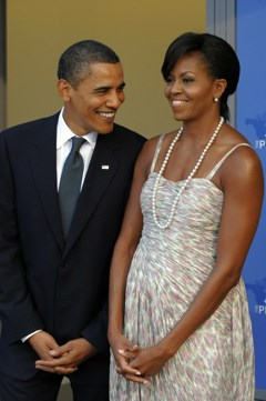 President Obama and Mrs. O at the opening dinner of the G20 summit