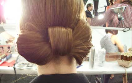 rebecca taylor backstage hair