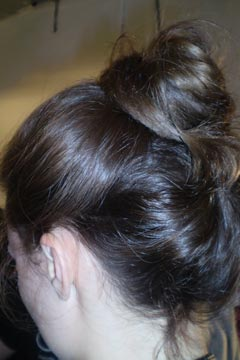 Model's hair at Ruffian Spring 2010 show