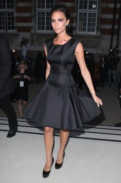Victoria Beckham at the Burberry show.