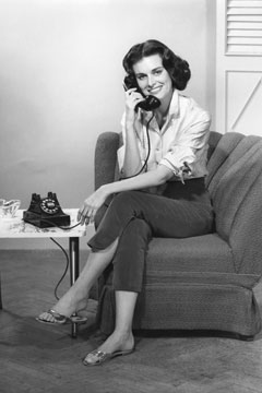 woman telephone