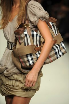 Burberry's spring 2010 runway accessories shot.