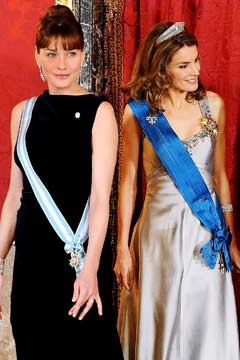 carla bruni princess letizia