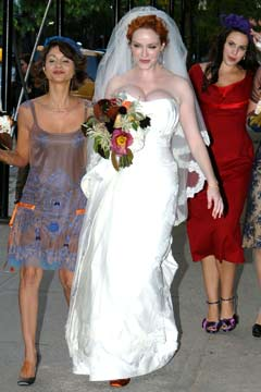 Christina Hendricks Wedding Gown