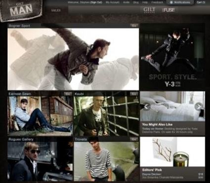 Gilt Groupe Man site