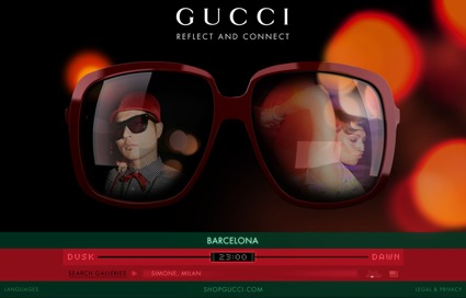 Gucci launches new Eyeweb.