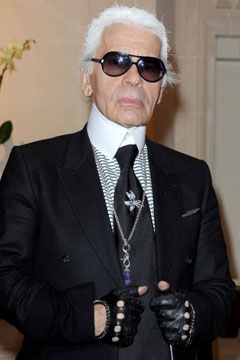 karl lagerfeld in wide tie
