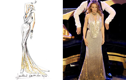 Jean Paul Gaultier Kylie Minogue Gold Sequin Dress