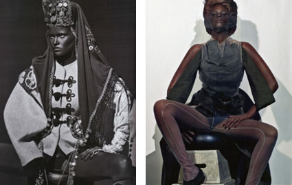 lara stone french vogue blackface