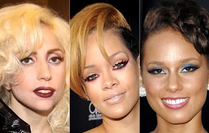 Lady Gaga, Rihanna and Alicia Keys at the 2009 American Music Awards
