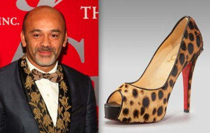 Christian Louboutin and his leopard-print, covered platform peep-toe stilettos.