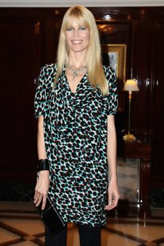 Claudia Schiffer at a luxury conference in Berlin.