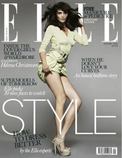 Helena Christensen on the cover of Elle UK