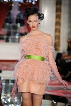 A feather minidress from Jason Wu's spring 2010 runway.