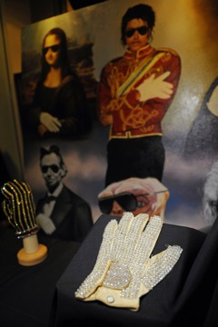 MJ's white glove for auction.